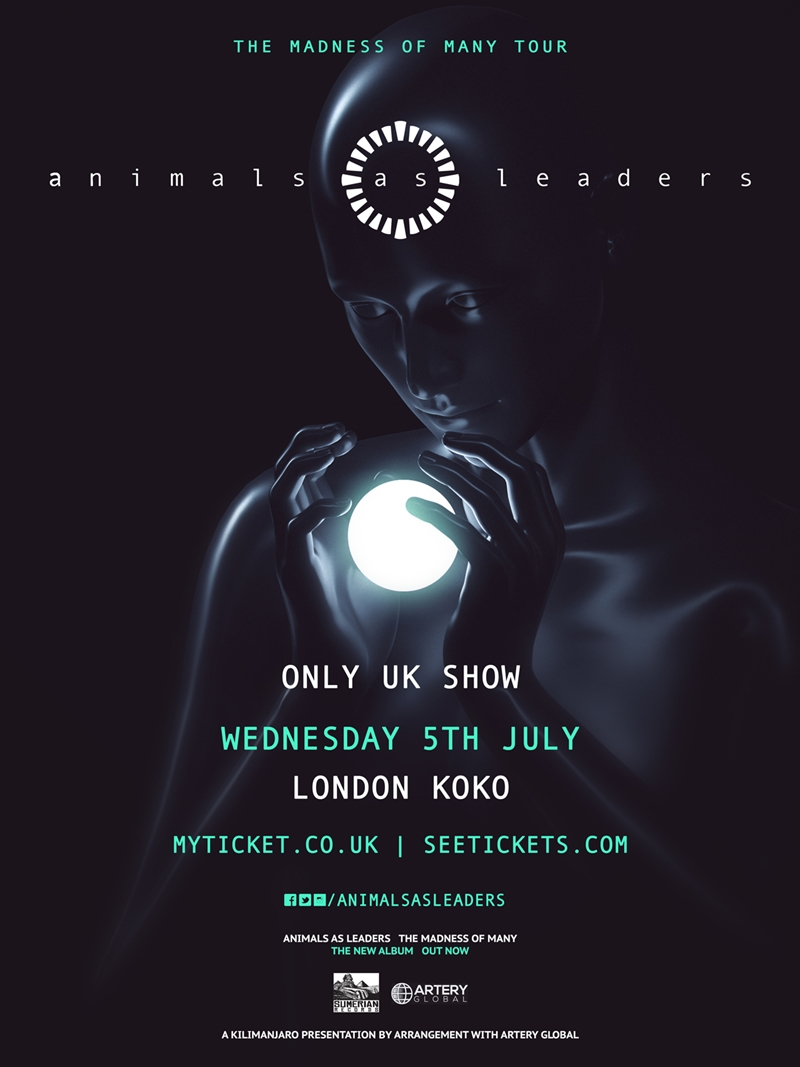 Animals As Leaders UK London 2017 show