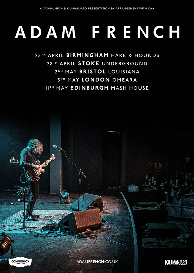 Adam French April May tour