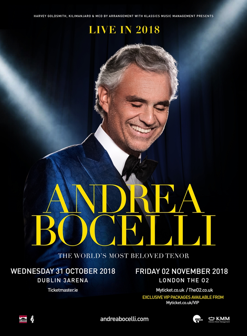Andrea Bocelli UK London 2018 show