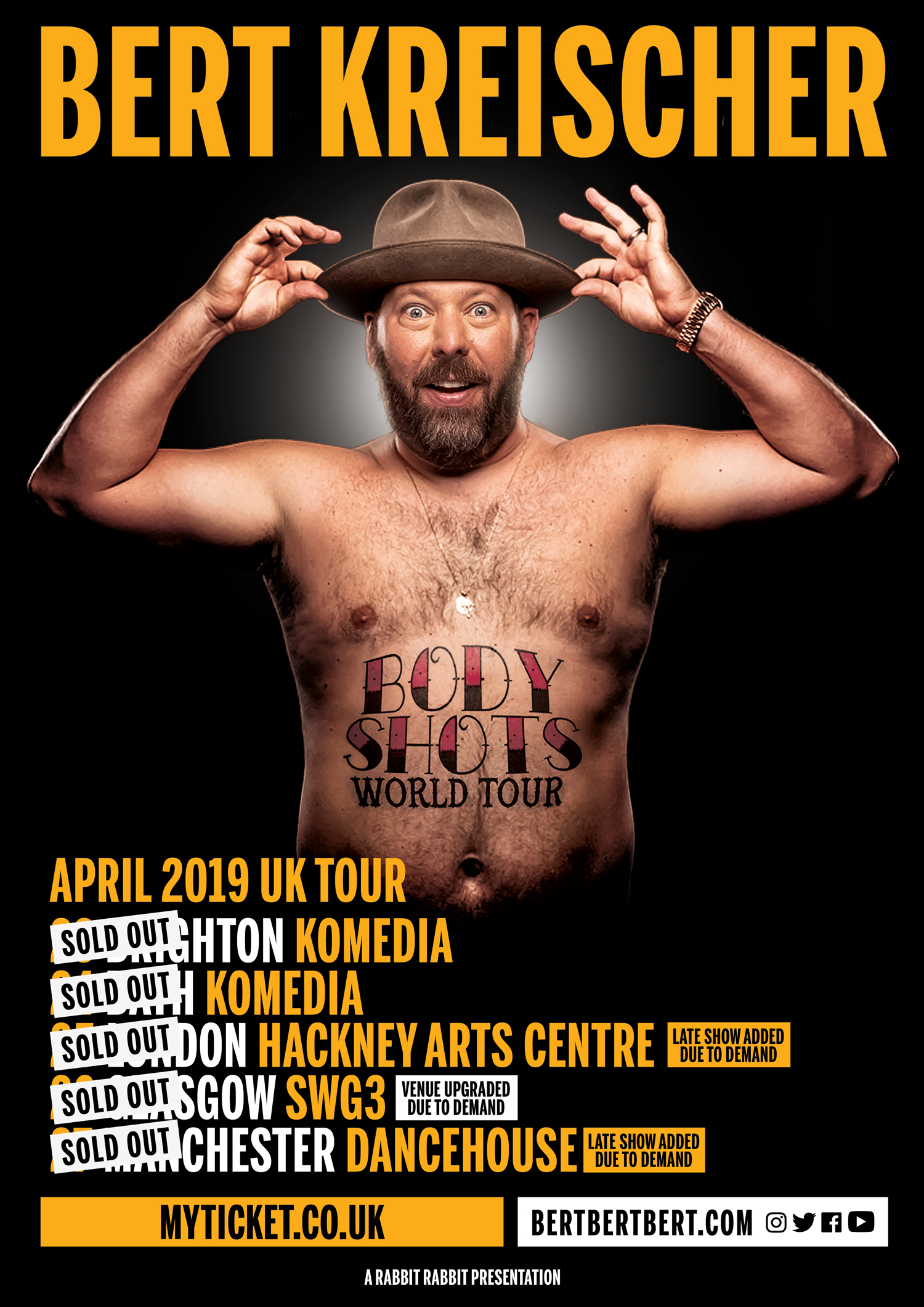 Bert Kreischer - The Body Shots Tour