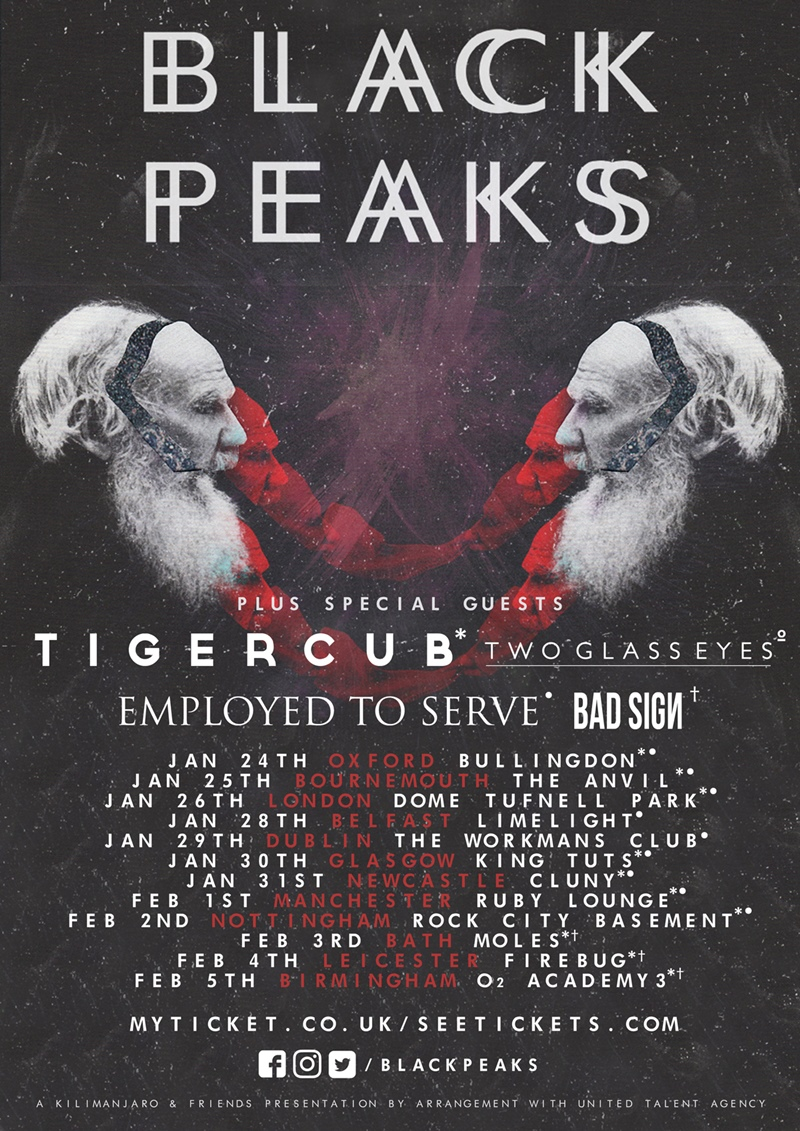 Black Peaks UK Tour 2017