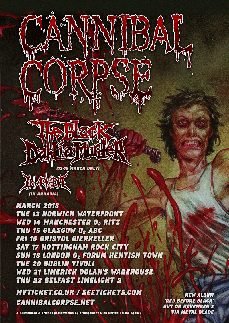 Cannibal Corpse UK Tour