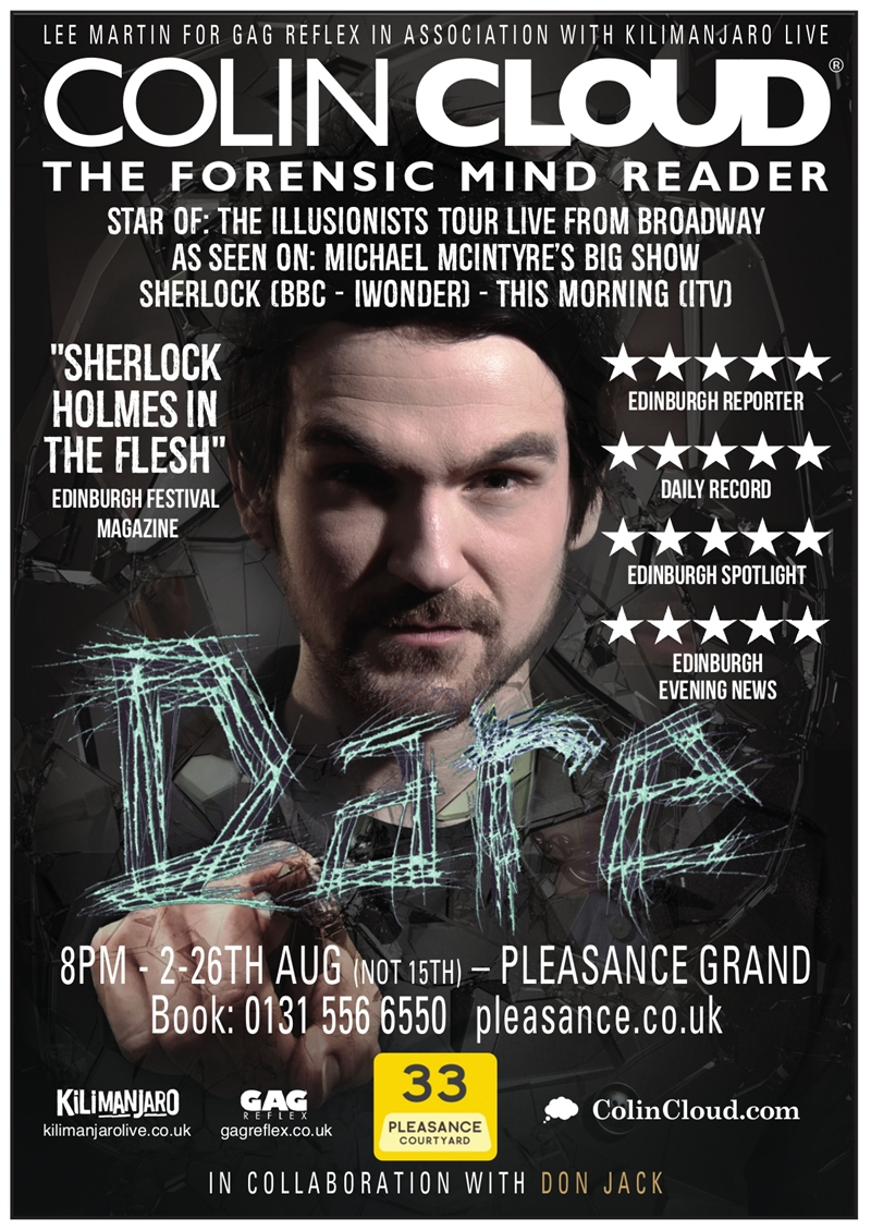 Colin Cloud Edinburgh Fringe 2017 UK show