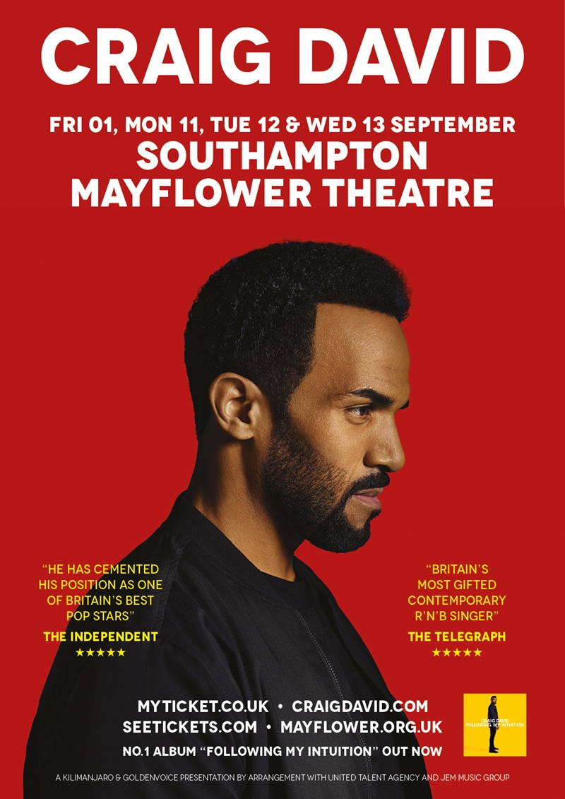 Craig David Southampton 2017 UK show