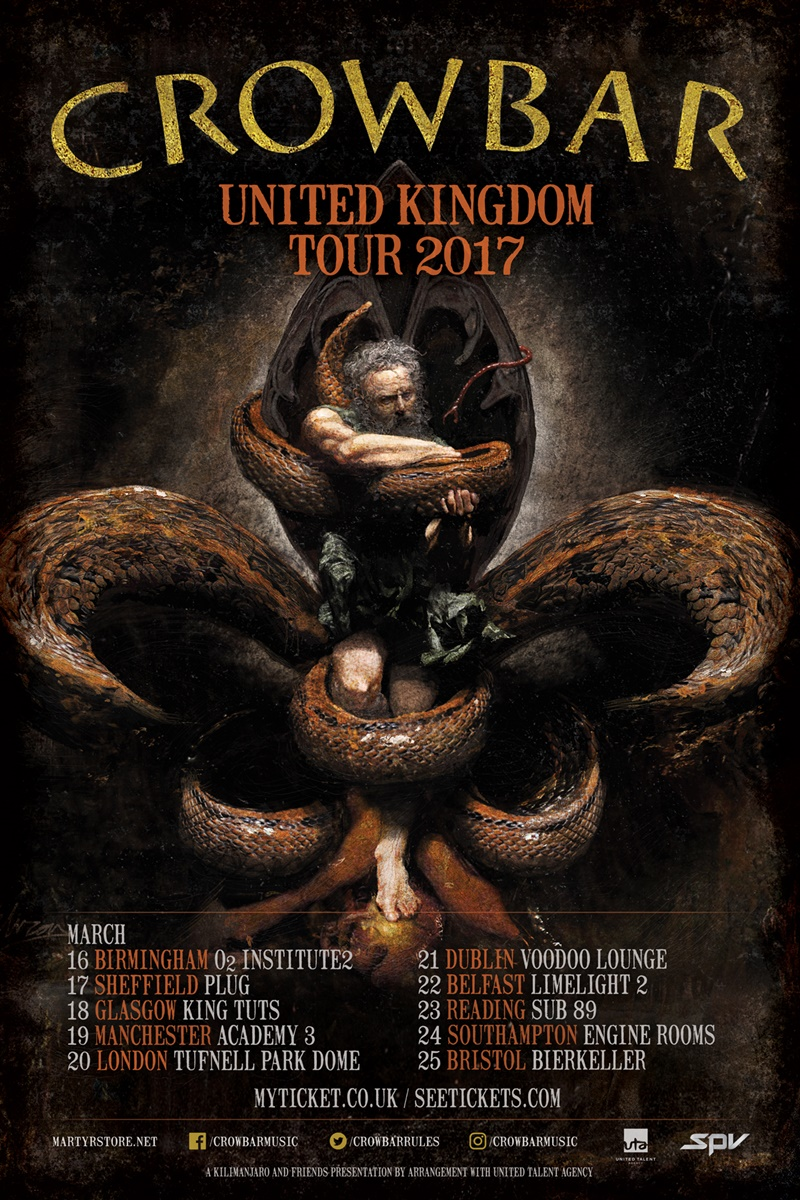 Crowbar UK Tour 2017