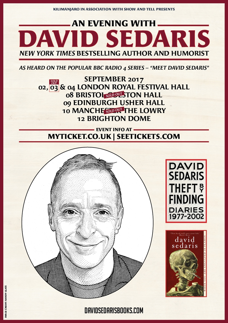An Evening with David Sedaris UK Tour 2017