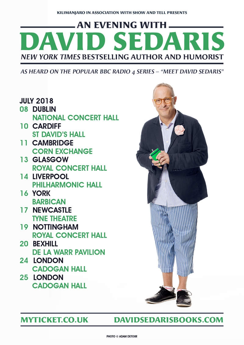 An Evening with David Sedaris UK Tour 2018