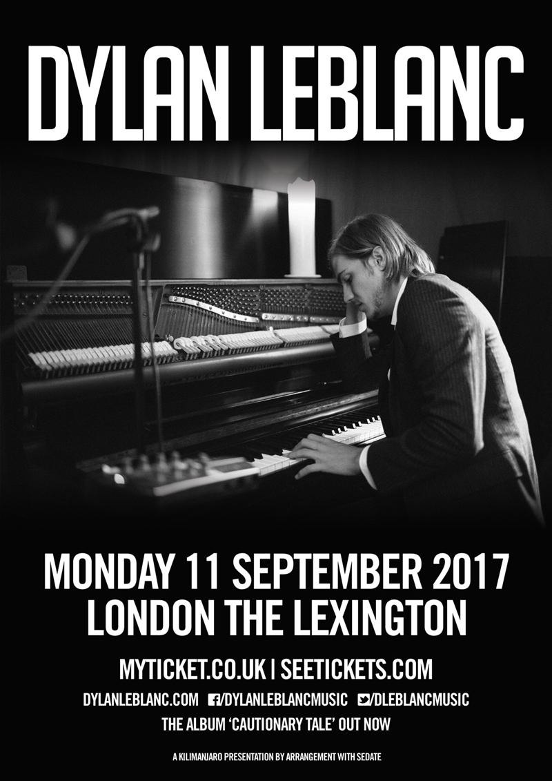 Dylan LeBlanc UK London show 2017