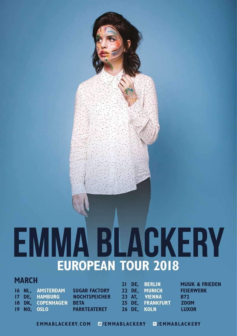 Emma Blackery EU 2018 Tour