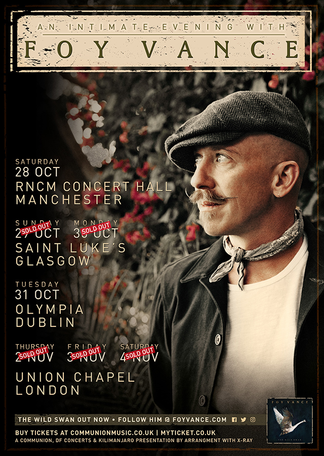 An Evening with Foy Vance UK Tour 2017