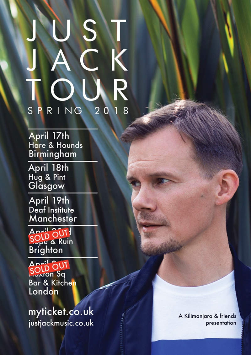 Just Jack UK Tour 2018