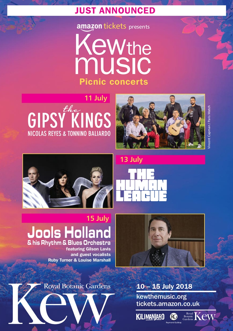 Kew the Music UK London 2018 summer concerts