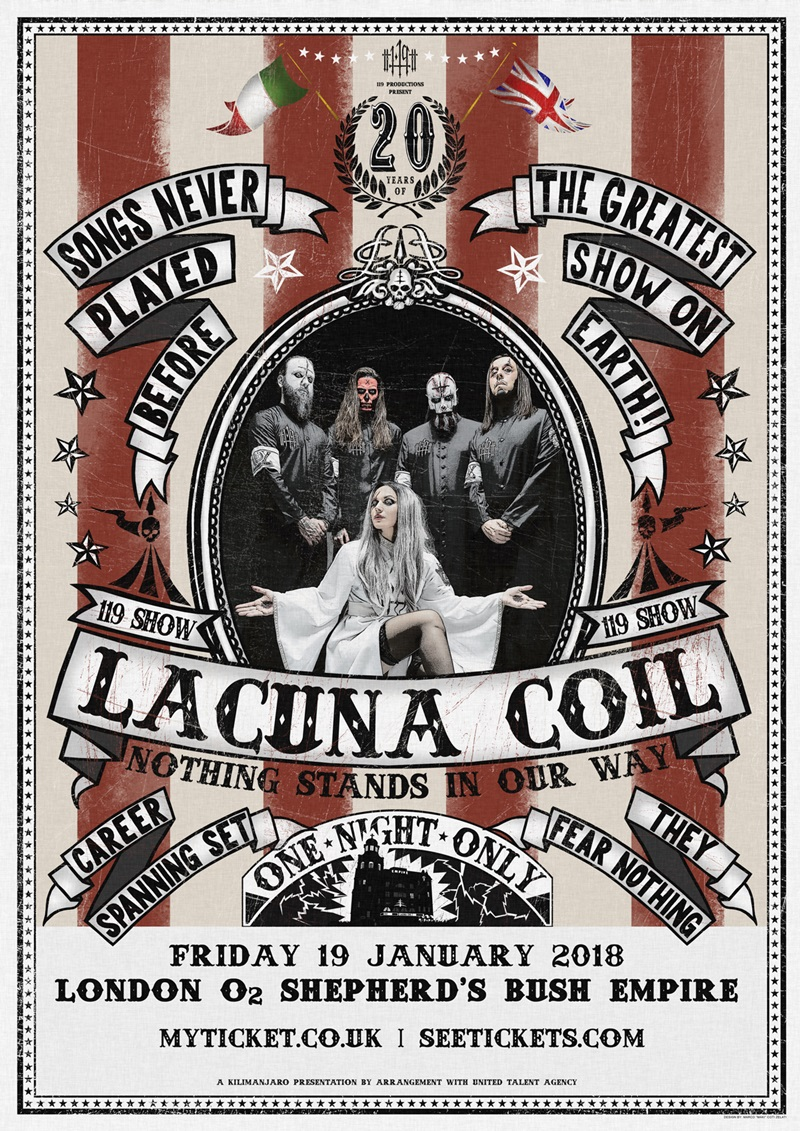 Lacuna Coil UK London 2018 show