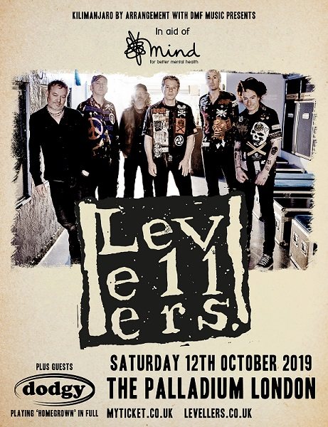 LEVELLERS - in aid of mental health charity MIND