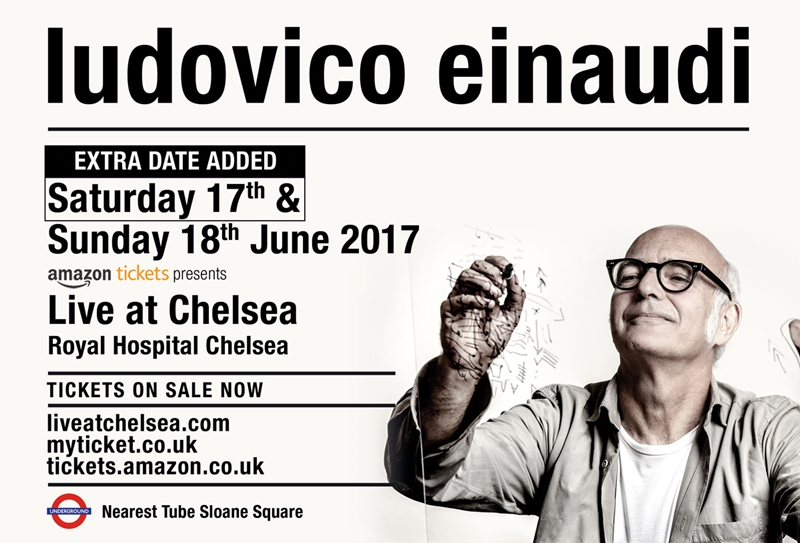 Ludovico Einaudi UK London 2017 concert series