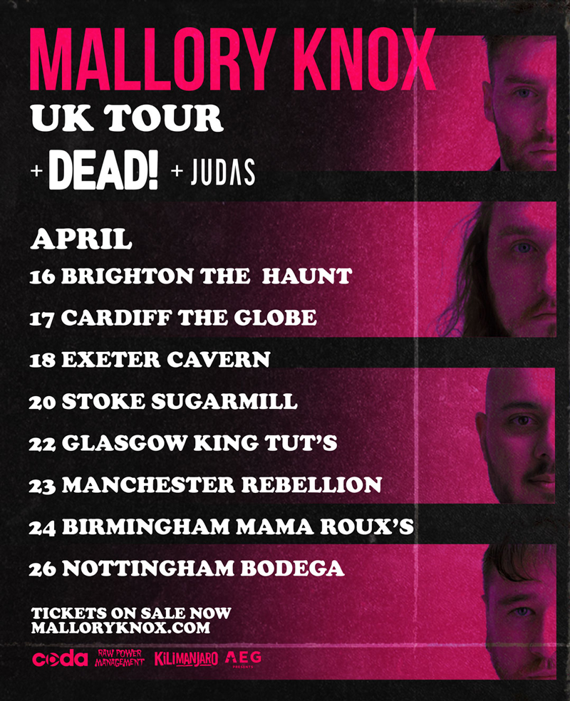 Mallory Knox tour with support
