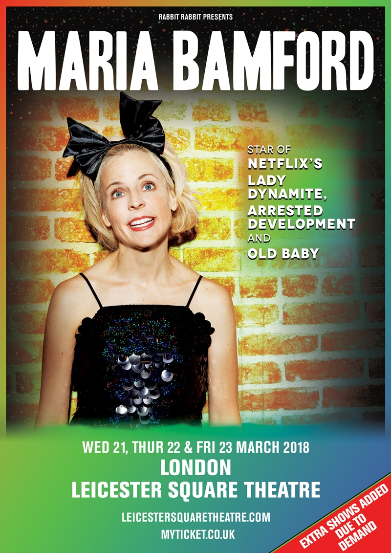 Maria Bamford UK London 2018 headline shows
