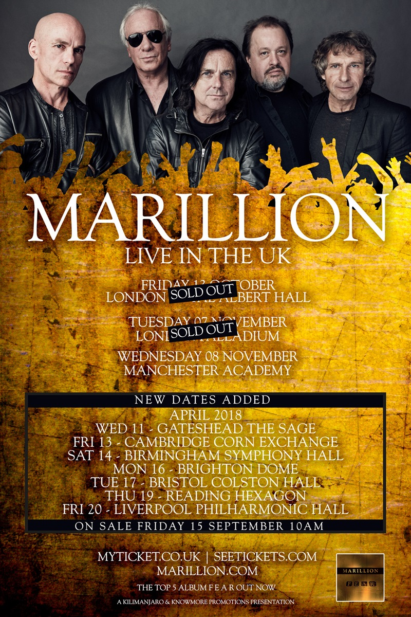 Marillion UK Tour 2018