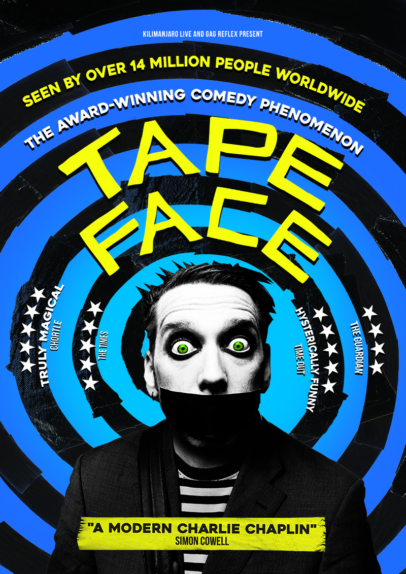 Tape Face UK London 2017 West End run shows
