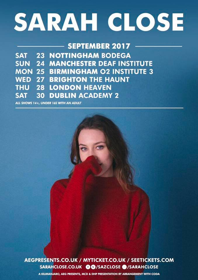 Sarah Close UK Tour 2017