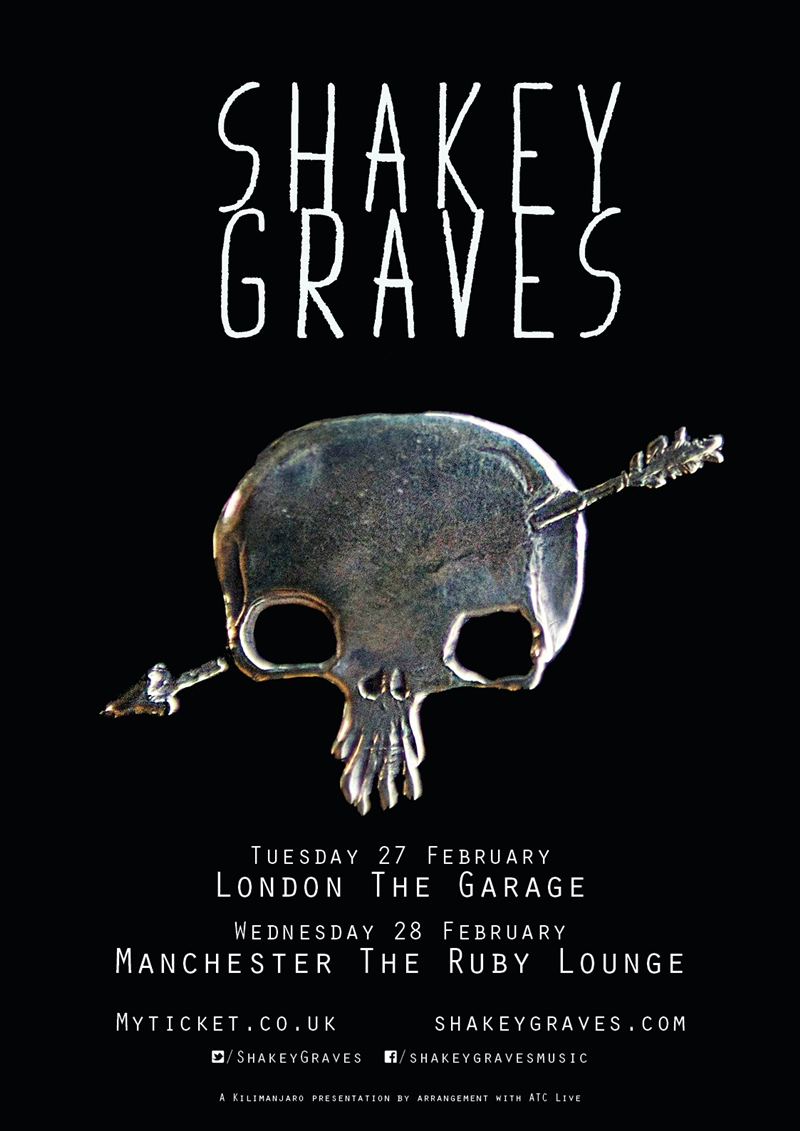 Shakey Graves UK Tour 2018