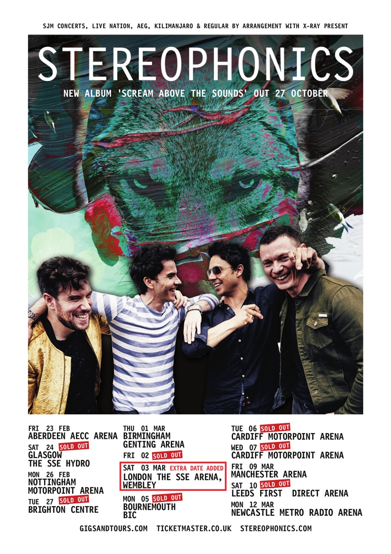 Stereophonics UK Tour 2018