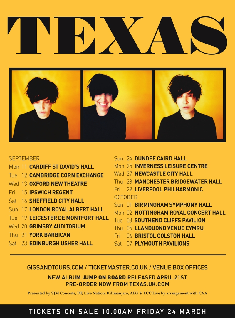 Texas UK Tour 2017