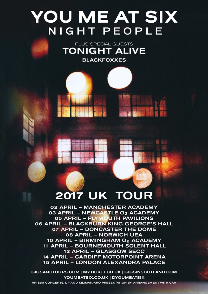 Image result for you me at six tour 2017