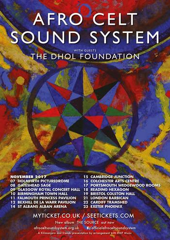 Afro Celt Sound System UK Tour 2017