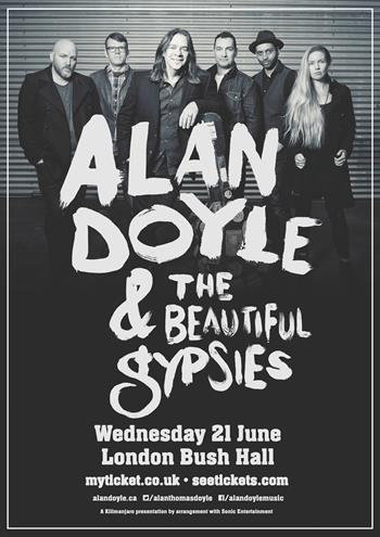 Alan Doyle & The Beautiful Gypsies UK London 2017 show