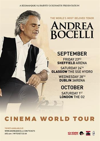 Andrea Bocelli UK Tour 2016