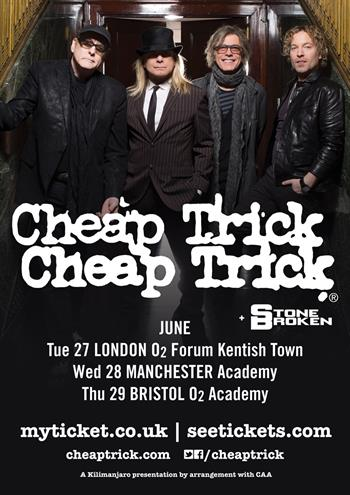 Cheap Trick UK Tour 2017