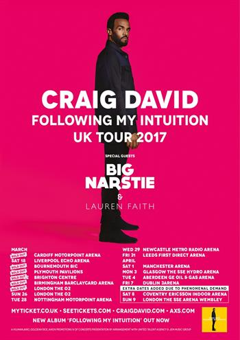 Craig David UK Tour 2017