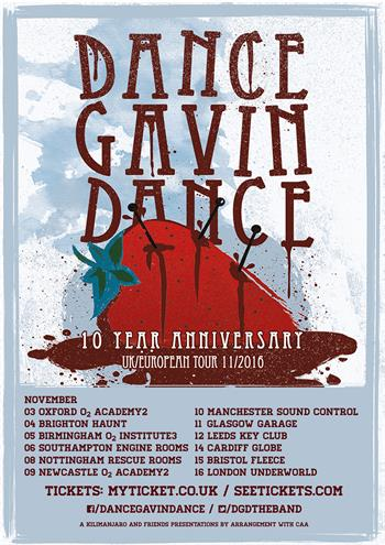 Dance Gavin Dance UK Tour 2016