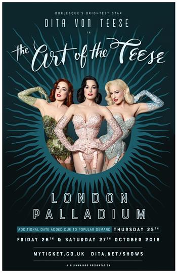 Dita Von Teese's 'The Art of the Teese' Burlesque Revue UK Tour 2018