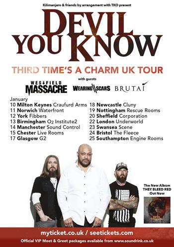 Devil You Know UK Tour 2017
