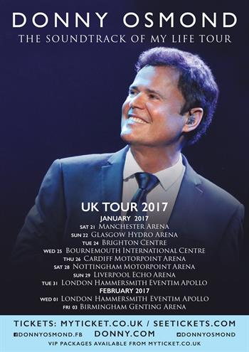 Donny Osmond UK Tour 2016