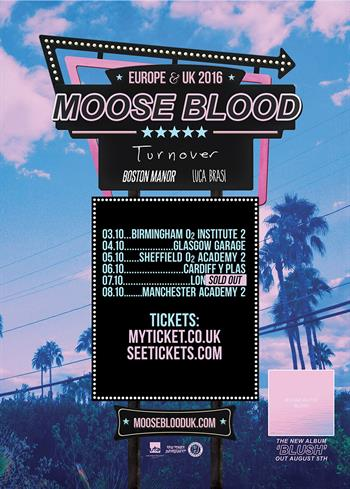 Moose Blood UK 2016 Tour