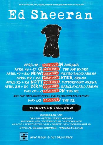 Ed Sheeran UK Tour 2017