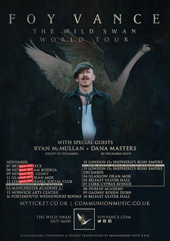 Foy Vance 2016 UK Tour