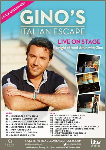 Gino D'Acampo UK Tour 2017