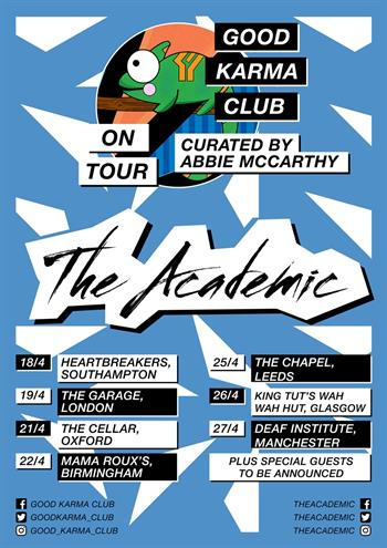 Good Karma Club presents The Academic UK Tour 2018