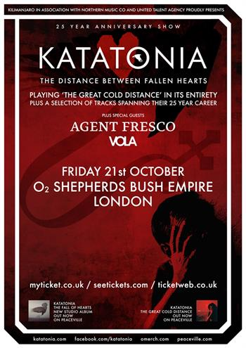 Katatonia UK London 2016 show