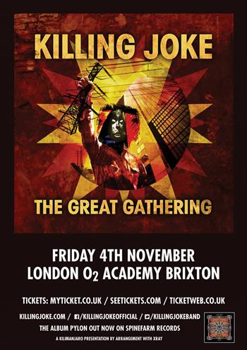 Killing Joke UK London 2016 show