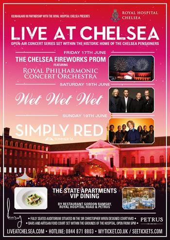 Live at Chelsea 2016 London UK Festival featuring Simply Red, Wet Wet Wet and The Royal Philharmonic Concert Orchestra