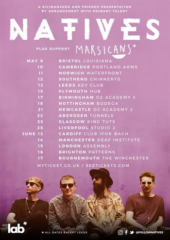 Natives UK Tour 2017