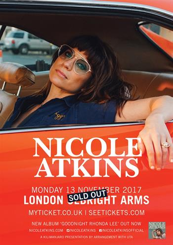 Nicole Atkins UK London show 2017