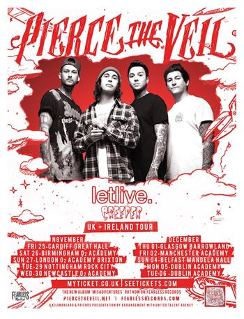 Pierce The Veil UK Tour 2016
