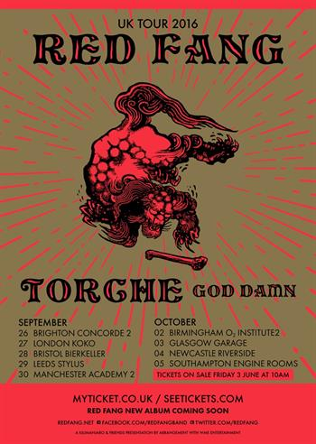 Red Fang UK Tour 2016
