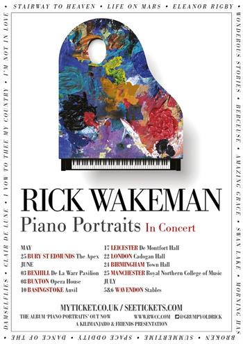 Rick Wakeman - Piano Portraits UK Tour 2017